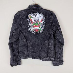 Ed Hardy | Dark Gray Denim Jacket